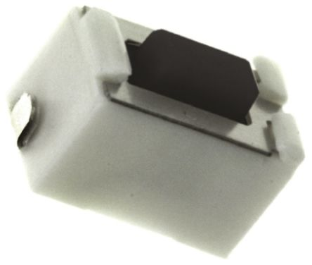 Black Push Plate Tactile Switch, Single Pole Single Throw (SPST) 50 mA @ 12 V dc 4.3mm