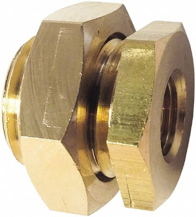 Brass 1/2 in BSPP Female Bulkhead Threaded Fitting product photo