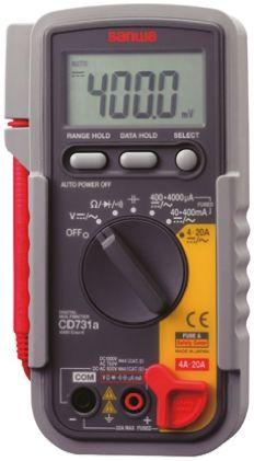 Sanwa Electric Instruments CD731a Handheld Digital Multimeter, 20A ac 750V  ac 20A dc 1000V dc