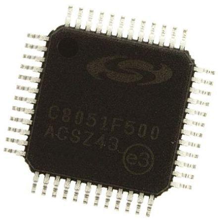 Silicon Labs C8051F500-IQ, 8bit 8051 Microcontroller, C8051F, 24MHz, 64 kB Flash, 48-Pin QFP