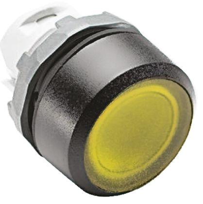 ABB ABB Modular Series, Yellow Push Button Head, Momentary, 22mm Cutout