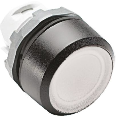 ABB ABB Modular Series, White Push Button Head, Momentary, 22mm Cutout