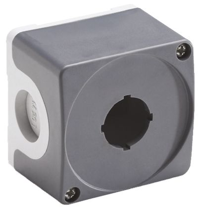 ABB Modular Push Button Enclosure, 1 Hole Grey, 22mm diameter Plastic