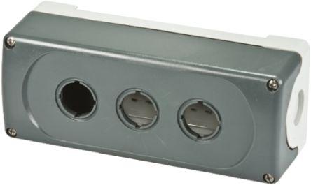 ABB Modular Push Button Enclosure, 3 Hole Grey, 22mm diameter Plastic
