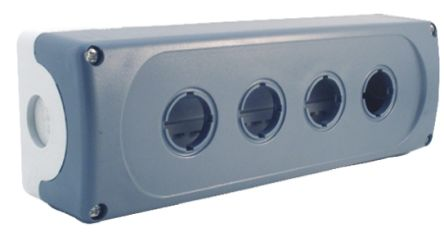ABB Modular Push Button Enclosure, 4 Hole Grey, 22mm diameter Plastic