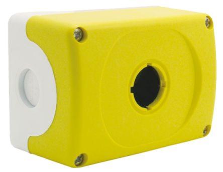 ABB Modular Push Button Enclosure, 1 Hole Yellow, 22mm diameter Plastic