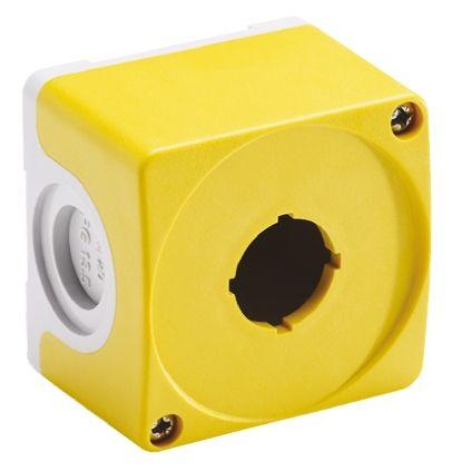 ABB Compact Push Button Enclosure, 1 Hole Grey, 22mm diameter Plastic