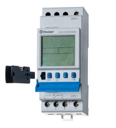 série 12 Interrupteur horaire à segments digitaux Finder 110 → 230 V c.a.