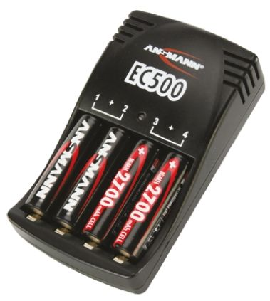Ansmann EC500 AA, AAA Battery Charger, Batteries Included