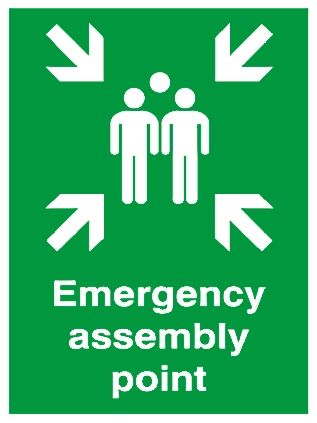 Rs Pro Plastic Fire Safety Sign Assembly Point Sign With English