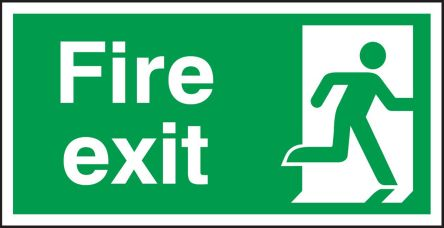 Exit Sign Brushed Copper Finish Exit Door Sign 9 x 3 inches