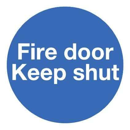 RS PRO Plastic Fire Safety Sign, Fire Safety Sign With English Text, 100 x 100mm