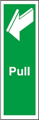 Vinyl Access, PULL, English, Exit Sign