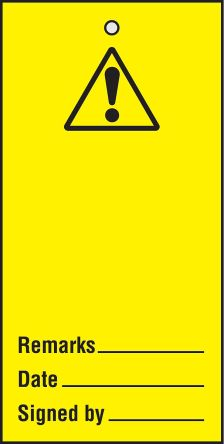 RS PRO Maintenance Safety Sign Safety Wall Chart, Styrene, English, 50 mm, 110mm