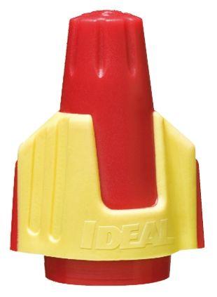 Ideal Kabelspleißverbinder Drahtmutter, rot, gelb isoliert, Ø 23.5mm ...