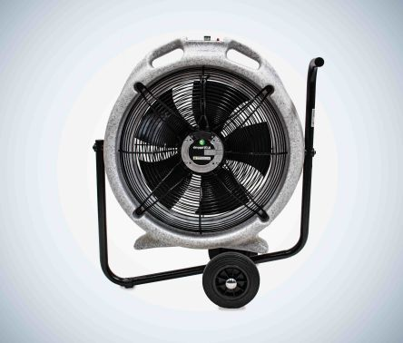 EC Aura ebm-papst Floor, Heavy Duty Fan 7250m³/h 115 V ac with plug: 110 V BS4343/IEC60309