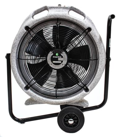 ebm-papst EC Aura Floor, Heavy Duty Fan 7250m³/h 230 V ac with plug: Type F - Schuko plug