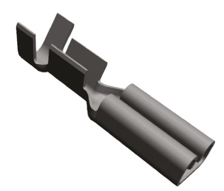 TE Connectivity FASTON .110 Series Crimp Receptacle, 2.79 x 0.51mm, 0.5mm² to 1mm², 20AWG to 17AWG, Tin Plated
