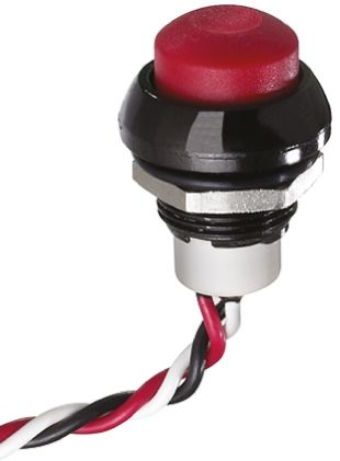 IP67 Hall Effect Push Button Switch 5mA 50mA Plunger Pre-wired Momentary, -40 → +85°C, 3.5 → 14.5 V