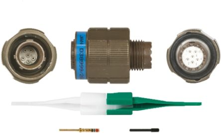 KJB Series, 6 Way Cable Mount MIL Spec Circular Connector Plug, Pin Contacts,Shell Size 9, Screw Coupling product photo