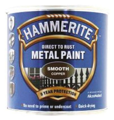 Hammerite Copper 250ml Smooth Finish Galvanising Paint & Spray for use with  Anti-Corrosion