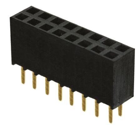 Samtec, SSW 2.54mm Pitch 16 Way 2 Row Straight PCB Socket, Through Hole, Solder Termination