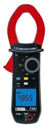 F401 Clamp Meter CAT III 1000 V, CAT IV 1000 V With RS Calibration product photo