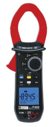 F405 Clamp Meter, Max Current 1.5kA ac, 1500A dc CAT III 1000 V, CAT IV 1000 V With UKAS Calibration product photo