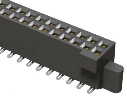Samtec, SFM 1.27mm Pitch 40 Way 2 Row Straight PCB Socket, Surface Mount, Solder Termination