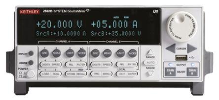 Keithley 2602B Sourcemeter, 2 Ch, 500 nΩ → 40 TΩ ±100 nA → ±10 A ±100 mV → ±40 V 80 W