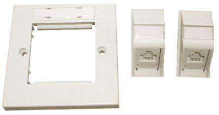 Molex Premise Networks Cat6 RJ45/IDC UTP Angled RJ Wall Plate Kit, PowerCat Euromod II Series