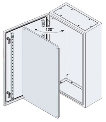 SR2 Monobloc IP65 Wall Box, Steel, Grey, 300 x 300 x 150mm