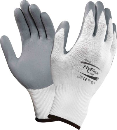 Ansell HyFlex Grey Special Purpose Nylon Nitrile-Coated Reusable Gloves 9