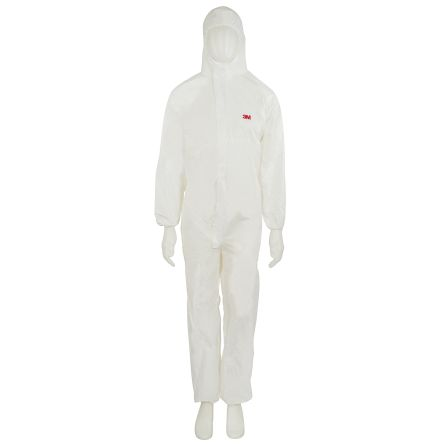 White Type 5//6 Scan Chemical Splash Resistant Coveralls