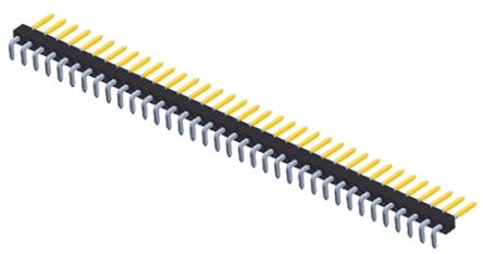 Amphenol FCI BergStik, 2.54mm Pitch, 36 Way, 1 Row, Right Angle Pin Header, Through Hole