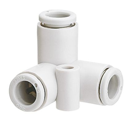 Pneumatic Delta Union Tube-to-Tube Adapter, Connection A 4mm, B 4mm, C 4mm