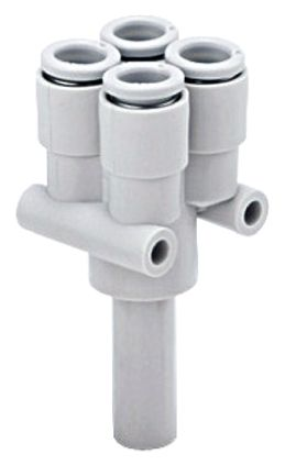 Pneumatic Double Y Tube-to-Tube Adapter Plug In 6 mm Plug In 6 mm Plug In 6 mm Plug In 6 mm 8mm