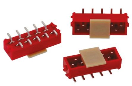 Wurth Elektronik WR-MM, 4 Way, 2 Row, Straight PCB Header