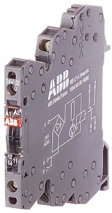 ABB Optocoupler, Max. Forward 60 V, Max. Input 5 mA, 70mm Length, DIN Rail Mounting Style