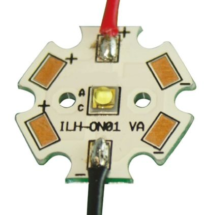 ILS ILH-OO01-ULWH-SC211-WIR200., OSLON Square 1+ PowerStar Circular LED Array, 1 White LED (6500K)
