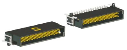 Harting Har-Flex, 1.27mm Pitch, 12 Way, 2 Row, Right Angle PCB Header, Surface Mount