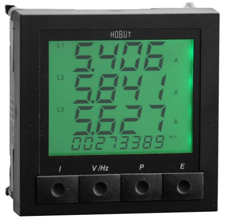 HOBUT M850-LCD , LCD Digital Panel Multi-Function Meter for Current, Energy, Frequency, Power, Voltage, 96mm x 96mm