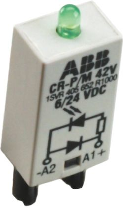 Diode Plug In Module for use with CR-P and CR-M Series Sockets
