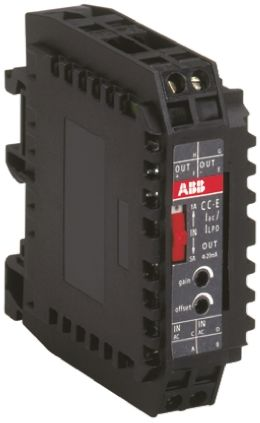 ABB AC Current to Analogue Signal Conditioner, 0 → 1 A ac, 0 → 5 A ac Input, 4 → 20 mA Output