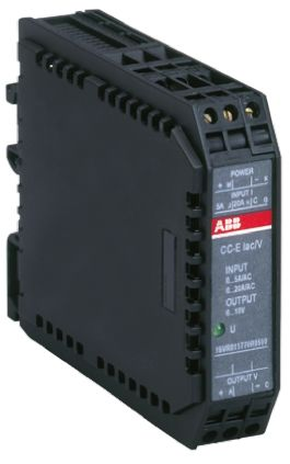 ABB AC Current to Voltage Signal Conditioner, 0 → 20 A ac, 0 → 5 A ac Input, 0 → 10 V Output