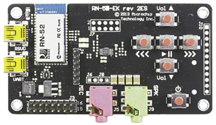 Microchip Bluetooth Audio Evaluation Board for RN52 - RN-52-EK