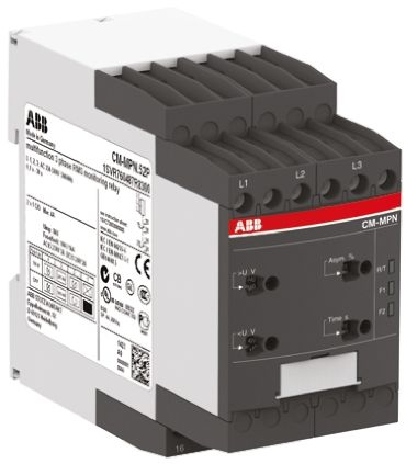 ABB Phase, Voltage Monitoring Relay With DPDT Contacts, 450 → 720 V ac, 3 Phase