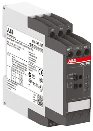 ABB Current Monitoring Relay with SPDT Contacts, 1 Phase, 24 → 240 V ac/dc