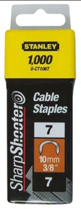 Stanley 10mm Cable Staples Cable Size 8mm Galvanized x 1000
