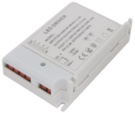 RS Pro Constant Voltage Dimmable LED Driver 60W 12V 0 → 4A